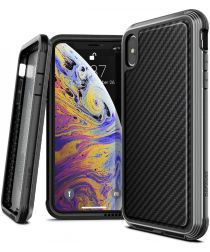 Raptic Lux Apple iPhone XS Max hoesje carbon fiber zwart