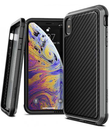 Raptic Lux Apple iPhone XS Max hoesje carbon fiber zwart Hoesjes