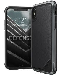 Defense Lux Apple iPhone XS / X Hoesje Leather Zwart