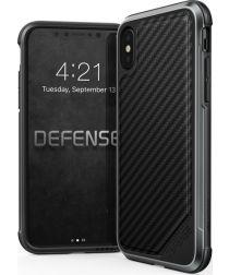 Raptic Lux Apple iPhone XS/X hoesje carbon fiber zwart