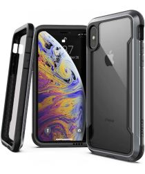 Raptic Shield Apple iPhone XS / X Hoesje Transparant/Zwart