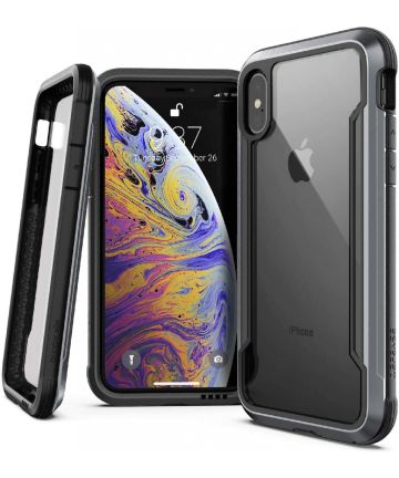 Defense Shield Apple iPhone XS / X Hoesje Zwart Shockproof