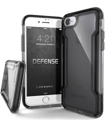 Defense Clear Apple iPhone SE 2020 Hoesje Transparant/Zwart