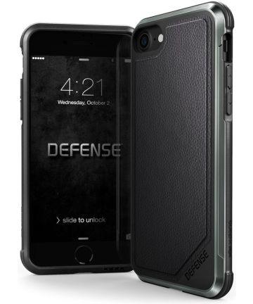 Defense Lux Apple iPhone SE 2020 Hoesje Echt Leer Zwart