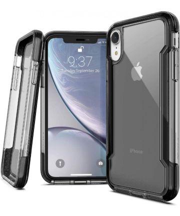 Raptic Clear Apple iPhone XR hoesje transparant zwart Hoesjes