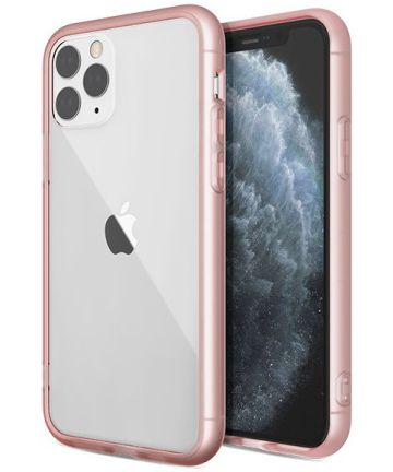 Raptic glass Plus Apple iPhone 11 pro hoesje transparant roze Hoesjes