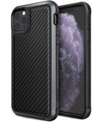 Raptic Lux Apple iPhone 11 pro max hoesje carbon fiber zwart