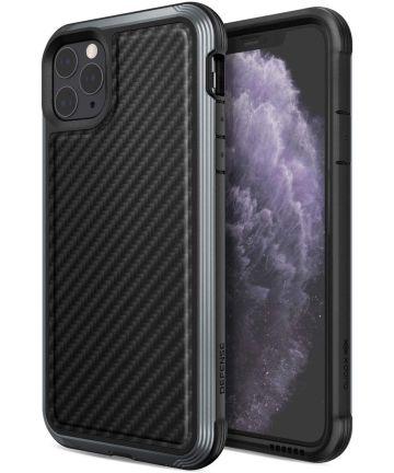 Raptic Lux Apple iPhone 11 pro max hoesje carbon fiber zwart Hoesjes