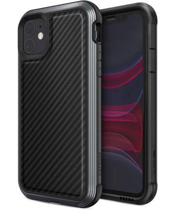 Raptic Lux Apple iPhone 11 Hoesje Carbon Fiber Zwart Hoesjes