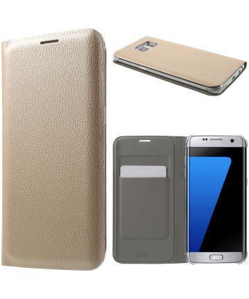 Samsung Galaxy S7 Edge Wallet Cover Goud