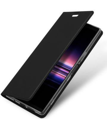 Dux Ducis Premium Book Case Sony Xperia 5 Hoesje Zwart Hoesjes