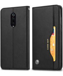 Xiaomi Mi 9T (Pro) Portemonnee Hoesje Met Kaarthouder Zwart
