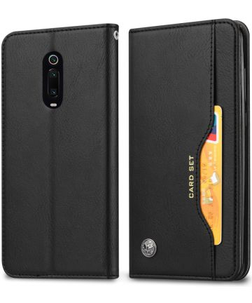 Xiaomi Mi 9T (Pro) Portemonnee Hoesje Met Kaarthouder Zwart Hoesjes
