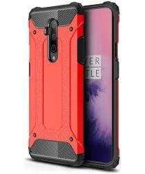 OnePlus 7T Pro Hybride Hoesje Rood