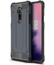 OnePlus 7T Pro Hybride Hoesje Donker Blauw