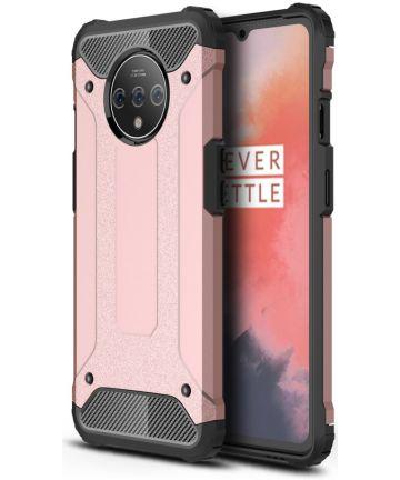OnePlus 7T Hybride Hoesje Roze Hoesjes