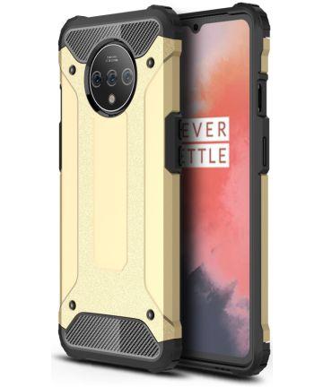 OnePlus 7T Hybride Hoesje Goud Hoesjes