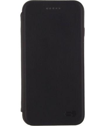 Senza Pure Skinny Leren Portemonnee Hoesje Apple iPhone 7 / 8 Zwart