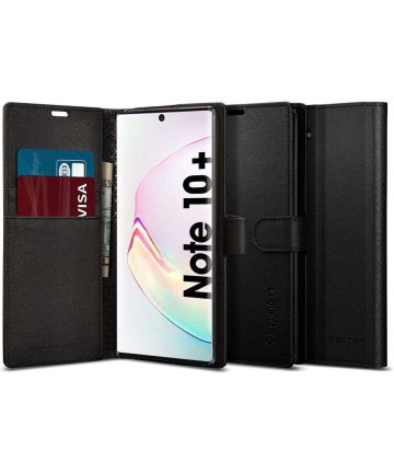 Spigen Wallet S Book Case Samsung Galaxy Note 10+ Zwart