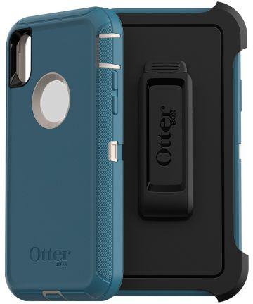 Otterbox Defender Apple IPhone XS / X Hoesje Blauw Hoesjes