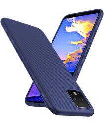 Google Pixel 4 Twill Slim Texture Back Cover Blauw
