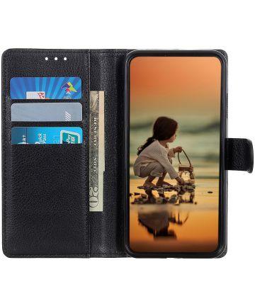 Motorola Moto E6s / E6 Plus Portemonnee Hoesje Zwart Hoesjes