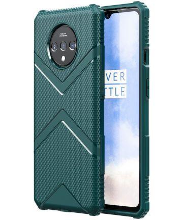 OnePlus 7T Armor Defence Hoesje Midnight Green Hoesjes
