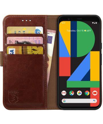 Rosso Element Google Pixel 4 Hoesje Book Cover Bruin Hoesjes