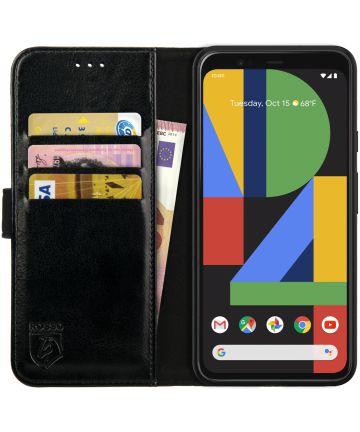 Rosso Element Google Pixel 4 XL Hoesje Book Cover Zwart Hoesjes