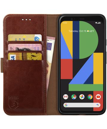 Rosso Element Google Pixel 4 XL Hoesje Book Cover Bruin Hoesjes