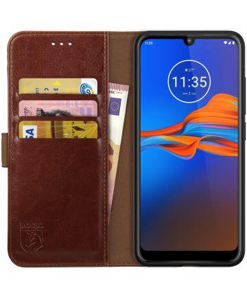 Rosso Element Motorola Moto E6s / E6 Plus Hoesje Book Cover Bruin Hoesjes