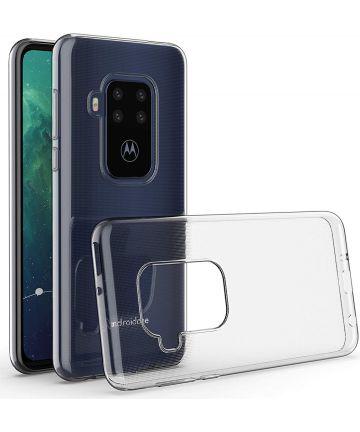 Motorola One Zoom Hoesje Dun TPU Transparant Hoesjes
