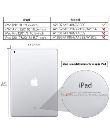 Apple iPad (2019) Kinder Tablethoes met Handvat Roze