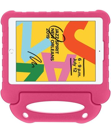 iPad 10.2 2019 / 2020 / 2021 Kinder Tablethoes met Handvat Roze Hoesjes
