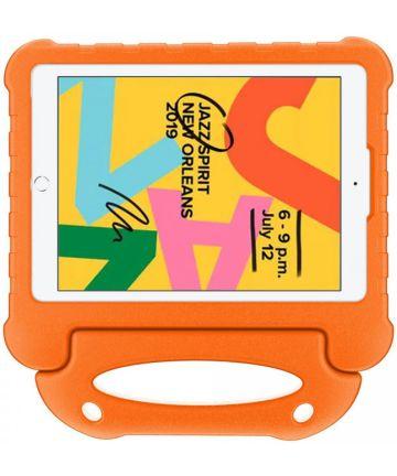 Apple iPad 10.2 2019 / 2020 Kinder Tablethoes met Handvat Oranje Hoesjes