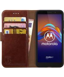 Rosso Element Motorola Moto E6 Play Hoesje Book Cover Bruin