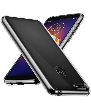 Motorola Moto E6 Play Hoesje Dun TPU Transparant Hoesjes