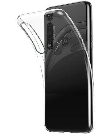 Motorola Moto G8 Plus Hoesje Dun TPU Transparant Hoesjes