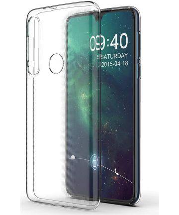 Motorola One Macro Hoesje Dun TPU Transparant Hoesjes