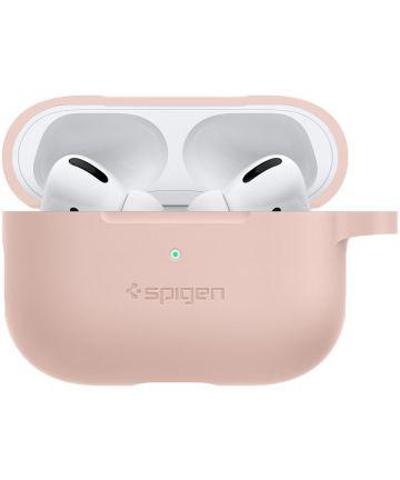 Spigen Silicone Fit Apple AirPods Pro Hoesje Roze Hoesjes