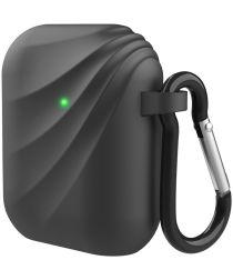 Apple Airpods Siliconen Hoesje met Haak Zwart