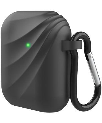 Apple Airpods Siliconen Hoesje met Haak Zwart Hoesjes