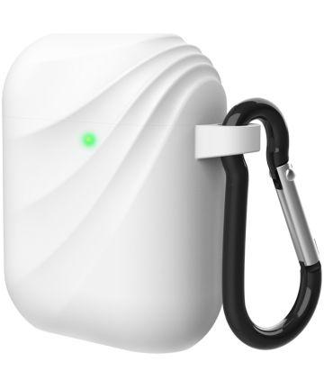 Apple AirPods Wervelwind Siliconen Hoesje Wit Hoesjes