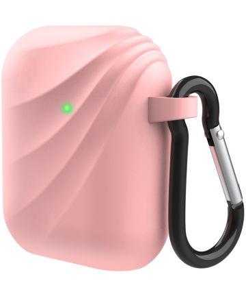Apple AirPods Wervelwind Siliconen Hoesje Roze Hoesjes