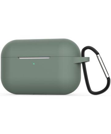 Apple AirPods Pro Flexibel Zacht Siliconen Hoesje Midnight Green Hoesjes