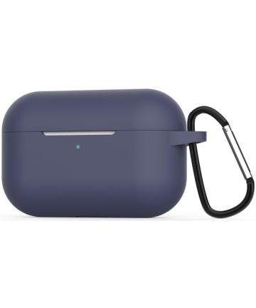 Apple AirPods Pro Flexibel Zacht Siliconen Hoesje Donker Blauw Hoesjes