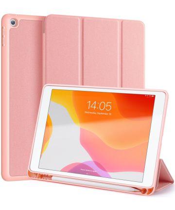 Dux Ducis Apple iPad 10.2 2019 / 2020 / 2021 Tri-fold Hoes Roze Goud Hoesjes