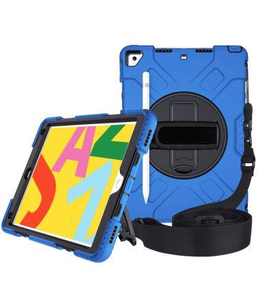 Apple iPad 10.2 2019 / 2020 Hybride Hoesje met Handriem Blauw Hoesjes