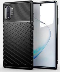 Samsung Galaxy Note 10 Plus Twill Texture Hoesje Zwart