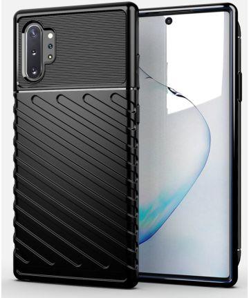 Samsung Galaxy Note 10 Plus Twill Texture Hoesje Zwart Hoesjes